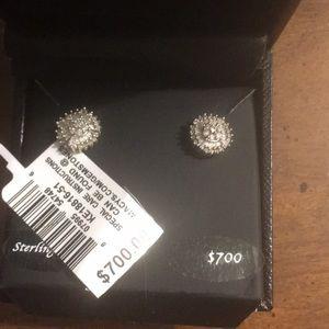Diamond starburst earring with box